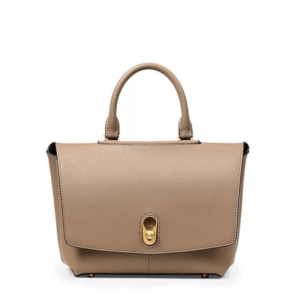 AMELIE LEATHER DAY BAG - NUDE