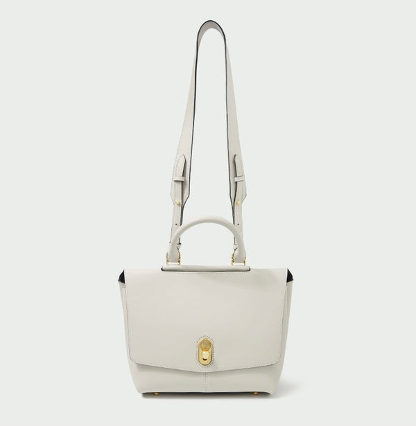 AMELIE LEATHER DAY BAG - WHITE