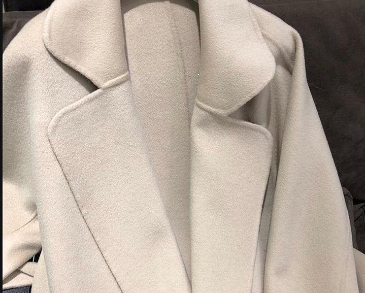 THE MAYFAIR CASHMERE BLEND COAT SAND