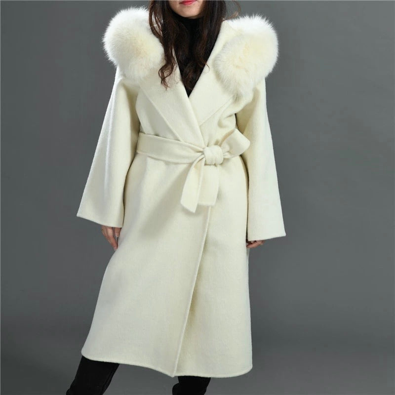 THE CHELSEA CASHMERE BLEND COAT IVORY