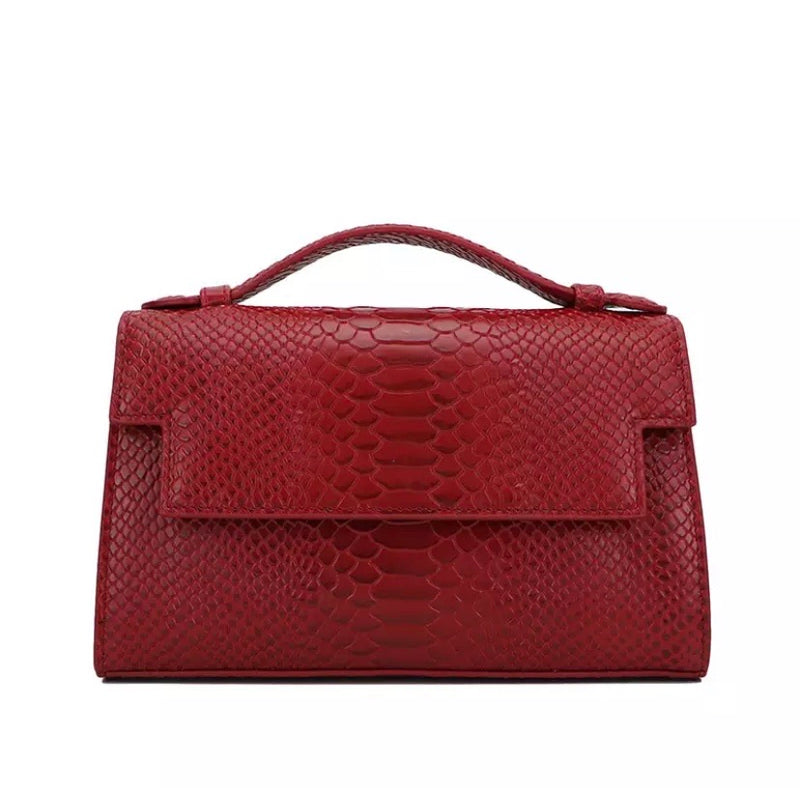 PETIT POCHE RUBY FAUX PYTHON LEATHER