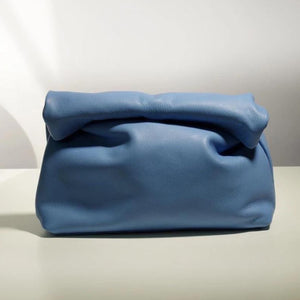 ROLLO CORNFLOWER GENUINE LEATHER CLUTCH BAG