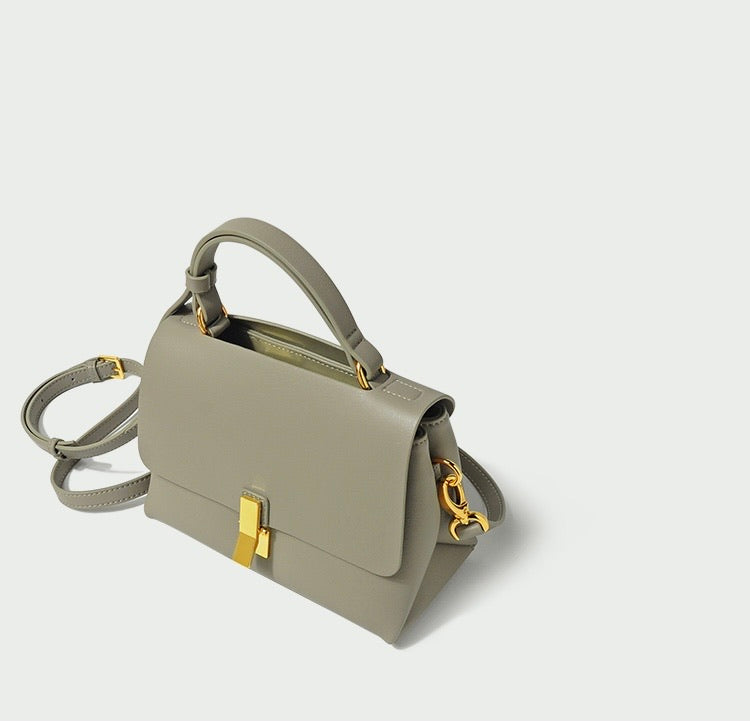 Cècile Mini Soft Leather Bag - Sage Green