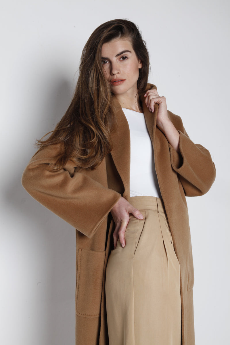 THE MILAN CASHMERE COAT CAMEL