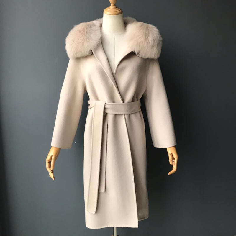 THE ASPEN CASHMERE BLEND COAT SAND