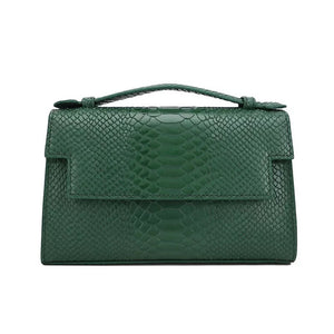PETIT POCHE EMERALD FAUX PYTHON LEATHER