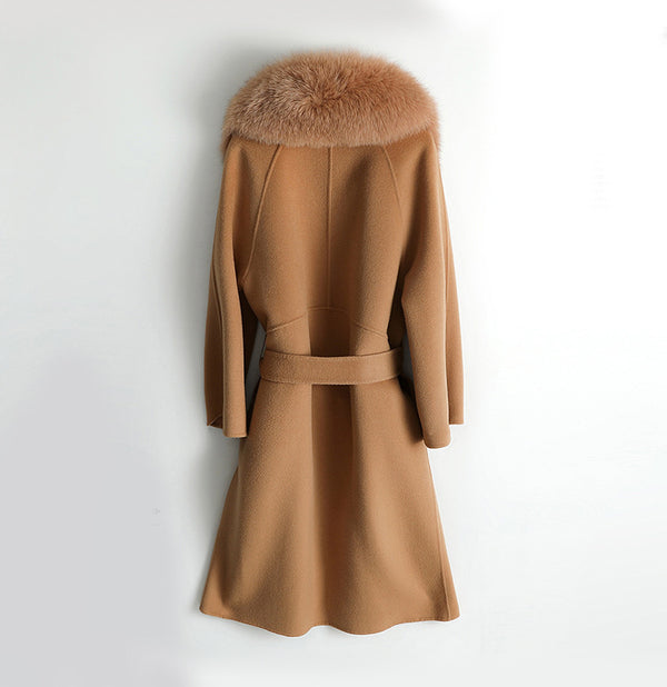 THE ASPEN CASHMERE BLEND COAT TOFFEE