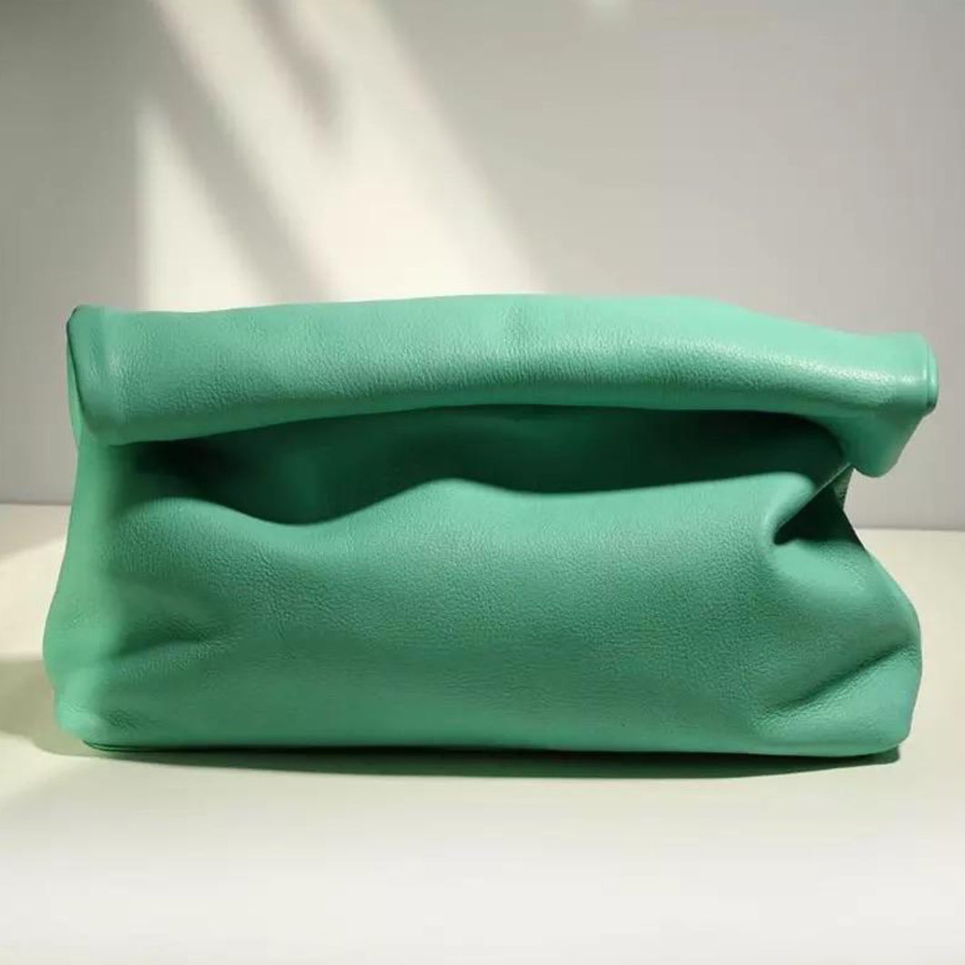 ROLLO MINT GENUINE LEATHER CLUTCH BAG