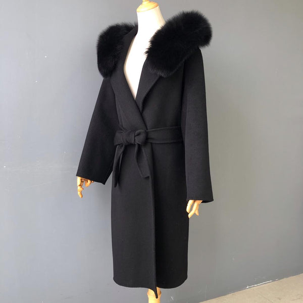 THE CHELSEA CASHMERE BLEND COAT BLACK