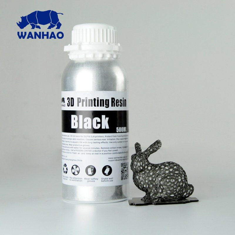 Wanhao 3D-Printer UV Resin - 500 ml - Black