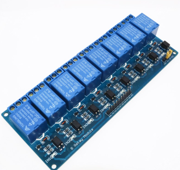 5V 8-Channel Relay/Relä Module Shield för Arduino