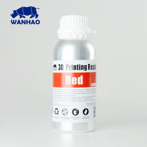 Wanhao 3D-Printer UV Resin - 500 ml - Red