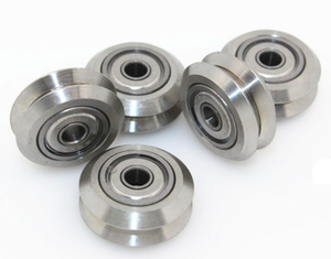 Metal Dual Wheel with 625 bearing V-Slot Aluminium
