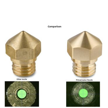 PrimaCreator MK10 Mixed Size Brass Nozzle - 4 pcs