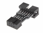 10 Pin to 6 Pin Adapter Board for AVRISP MKII USBASP STK500