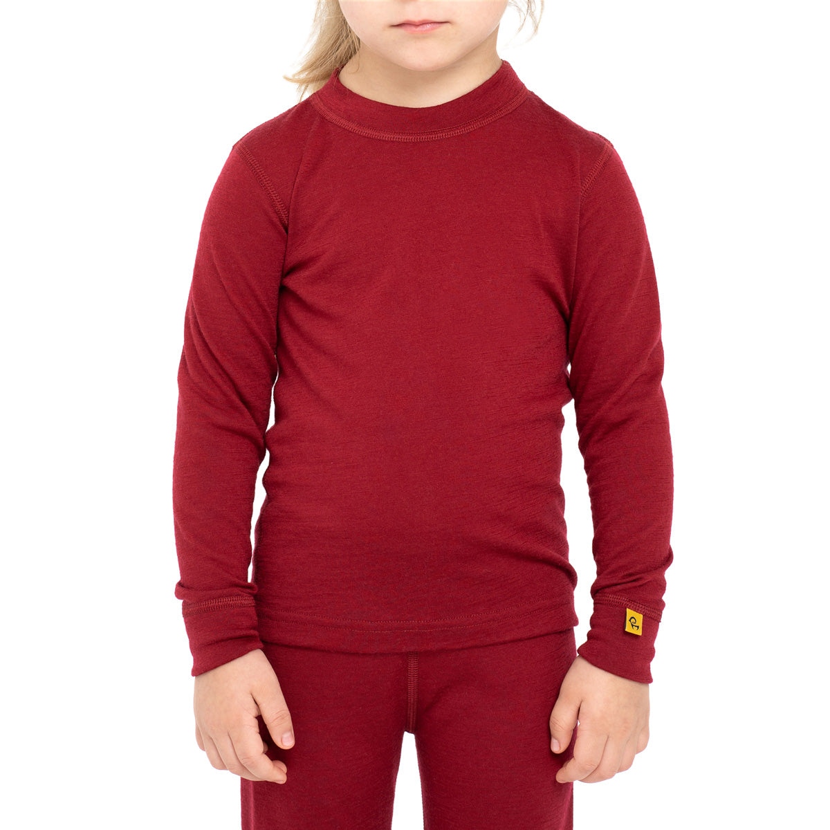 Kids' Merino 160 Long Sleeve Crew Royal Cherry