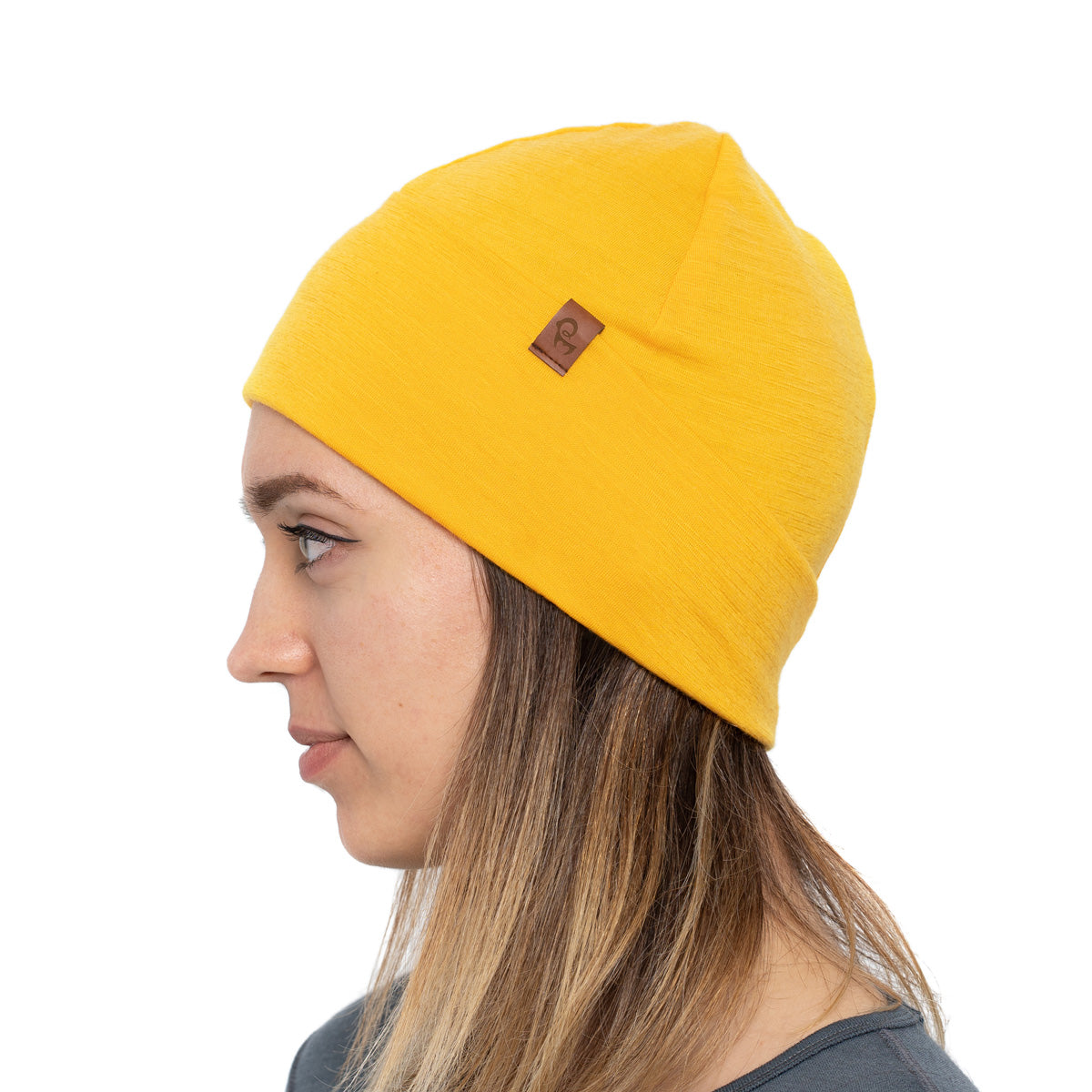 menique 	Women's Merino Beanie Hat Power Mango / Yellow Color