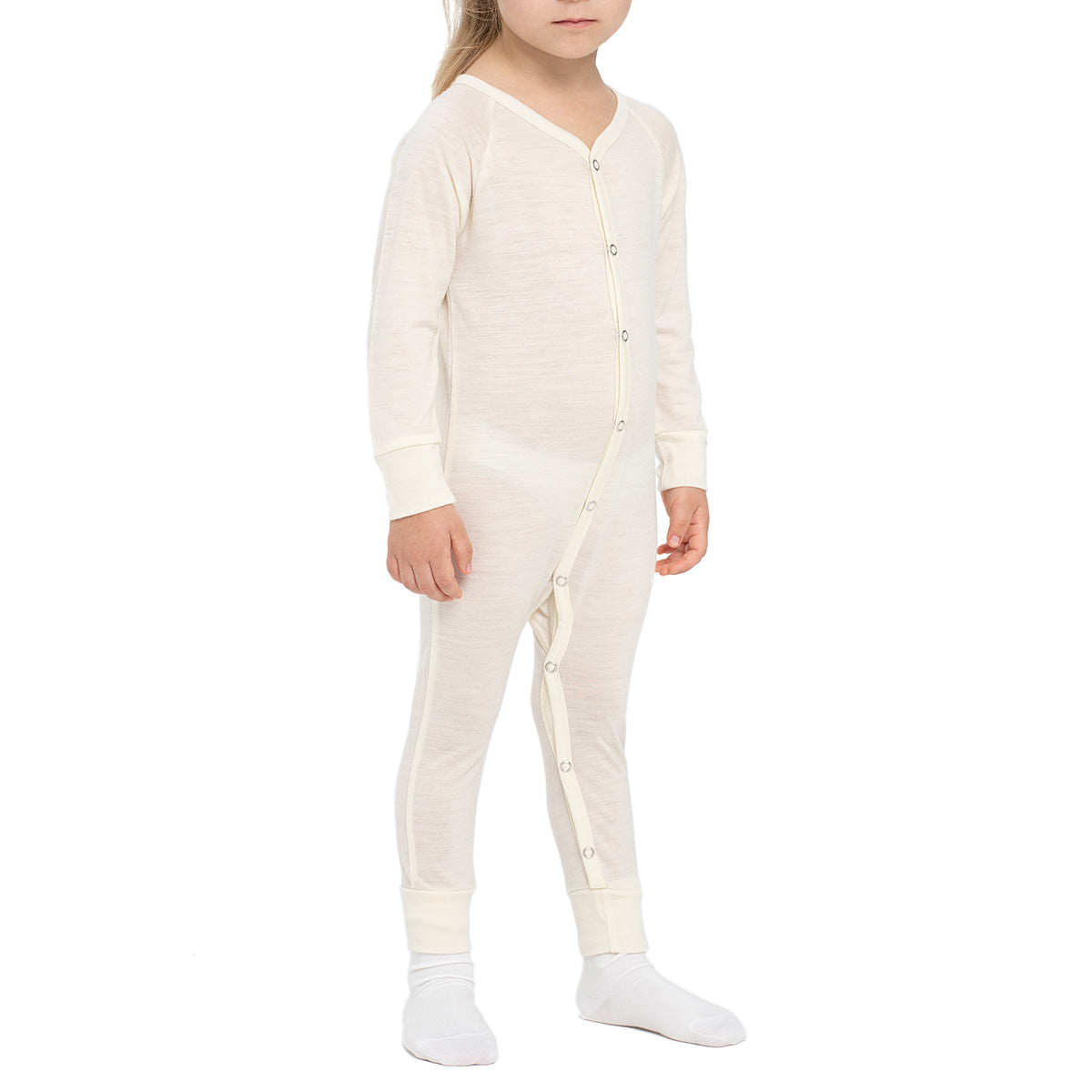 menique Kids' Merino 160 Romper Natural Color