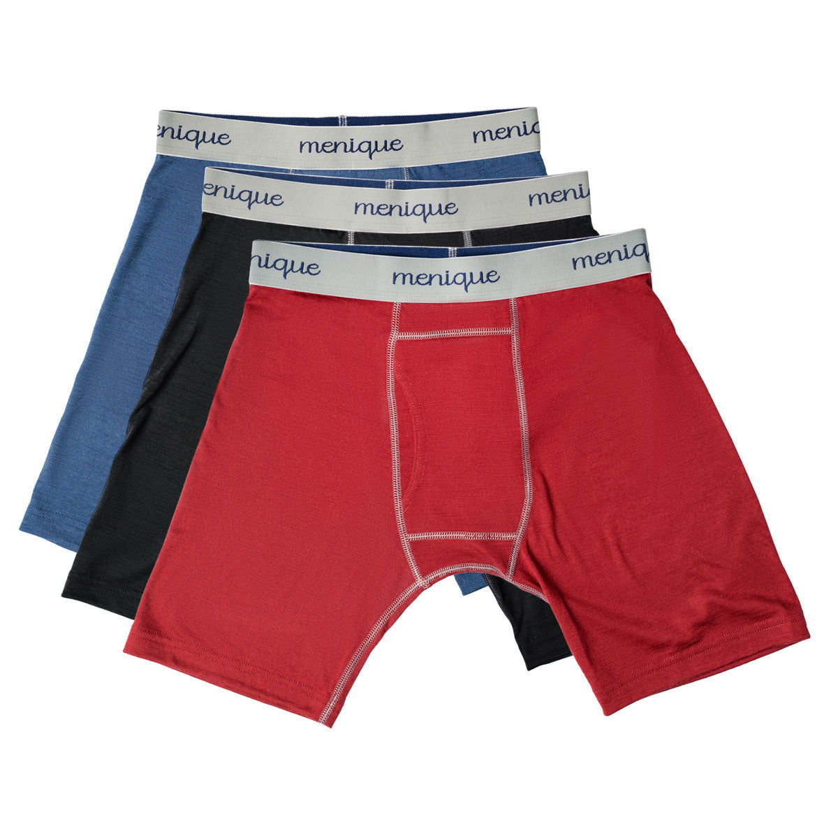 menique Men's Merino 160 Boxer Briefs 3-Pack