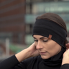 menique merino unisex headband black