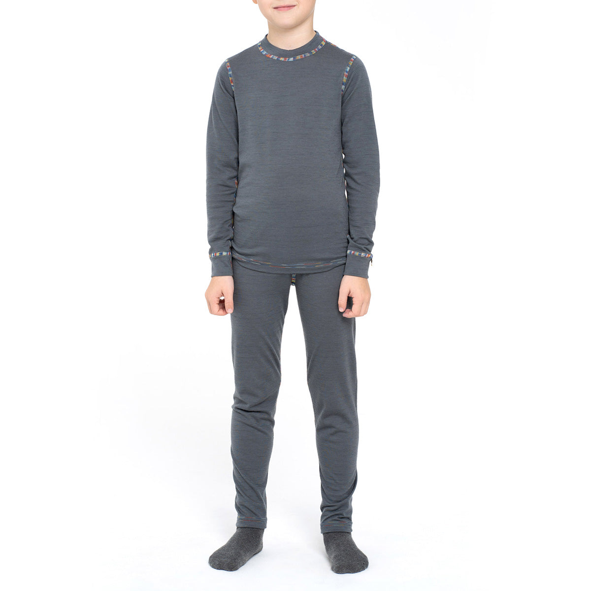Kids' Long Sleeve Set 160gsm Merino Wool Perfect Grey