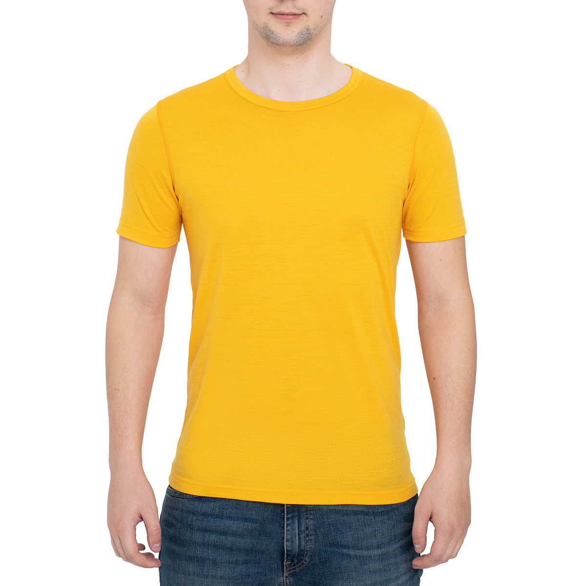 menique Men's Merino 160 Short Sleeve Crew Power Mango Color