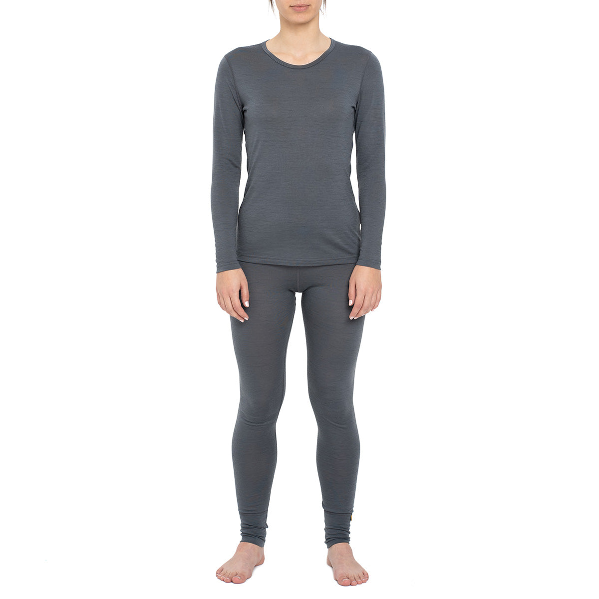 Women's Long Sleeve Set 160gsm Merino Wool Perfect Grey