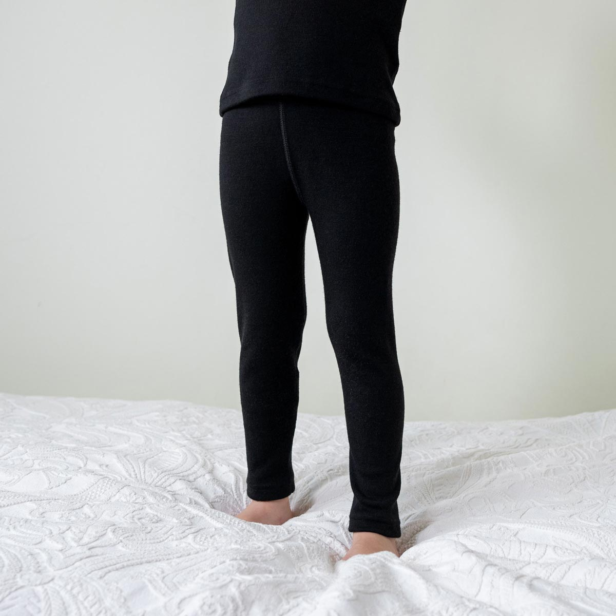 Kids' Pants 250gsm Merino Wool Black