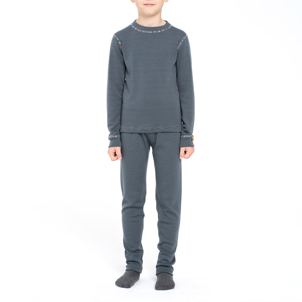 Kids' Merino 250 Long Sleeve Boy Set Perfect Grey front