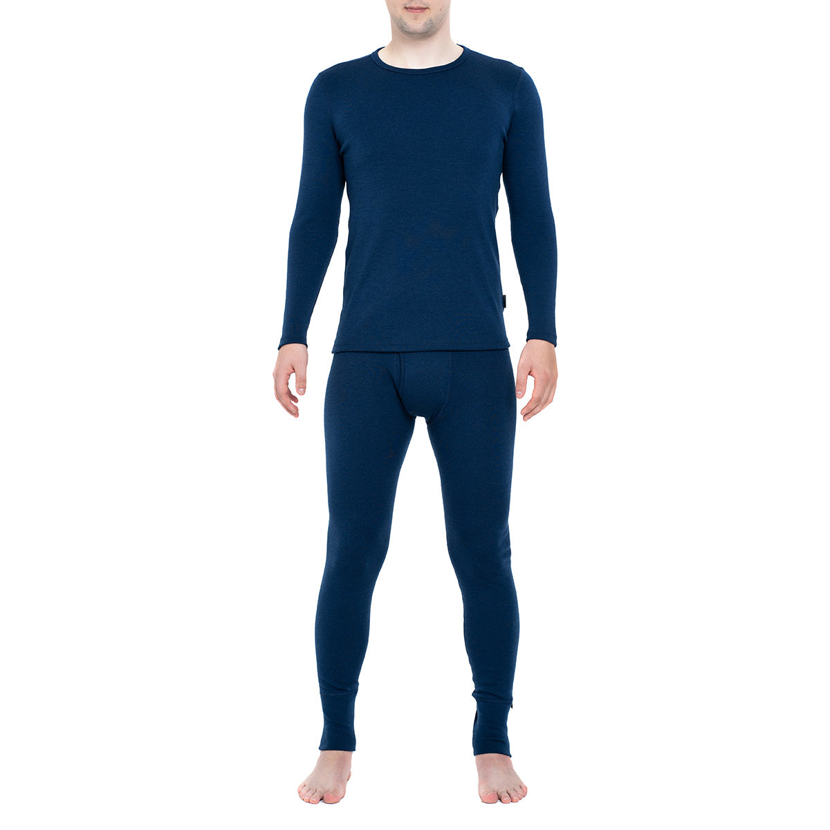 Men's Long Sleeve Set 250 Merino Dark Blue