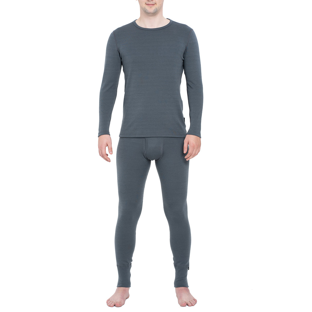 Men's Long Sleeve Set 250gsm Merino Wool Perfect Grey