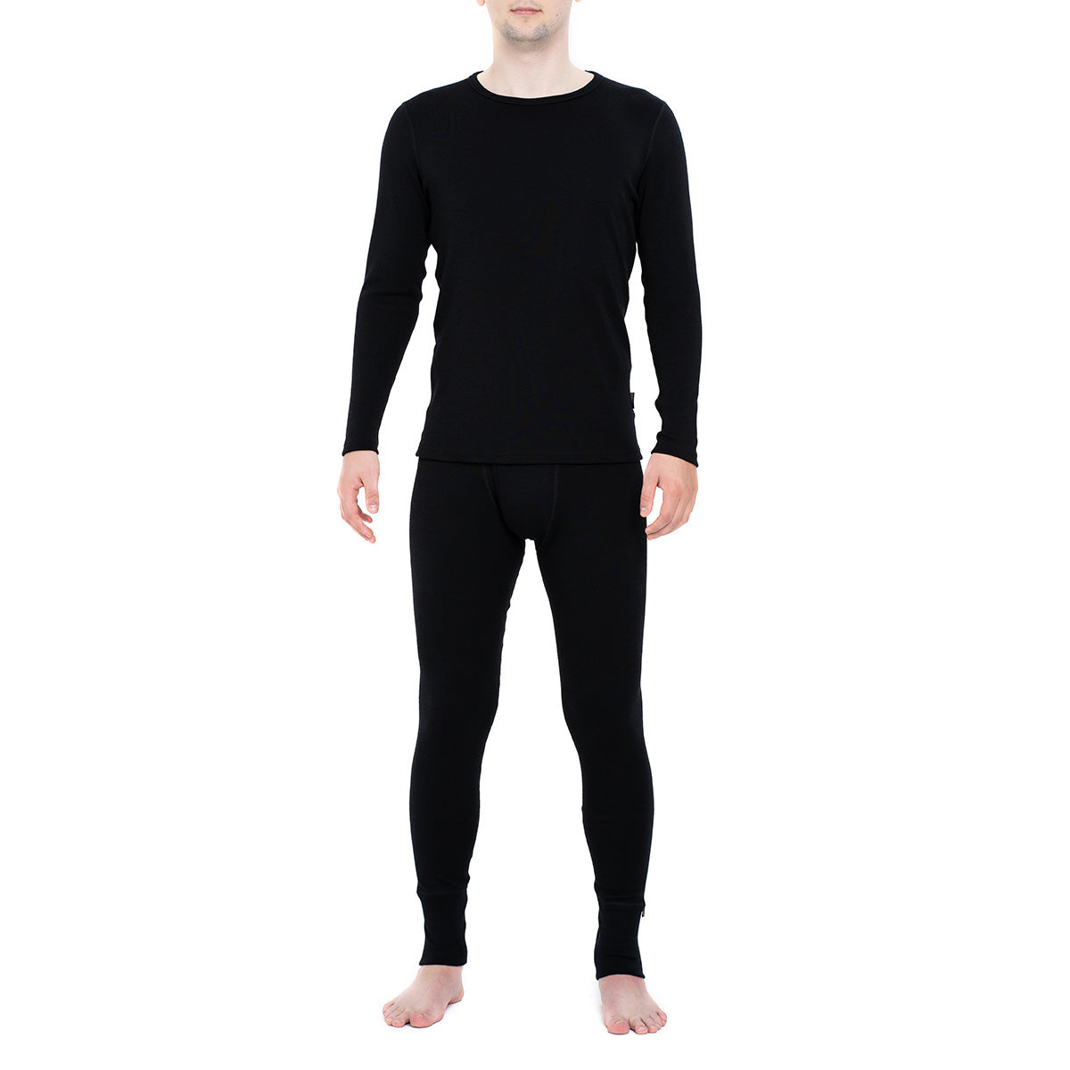 Men's Long Sleeve Set 250gsm Merino Wool Black