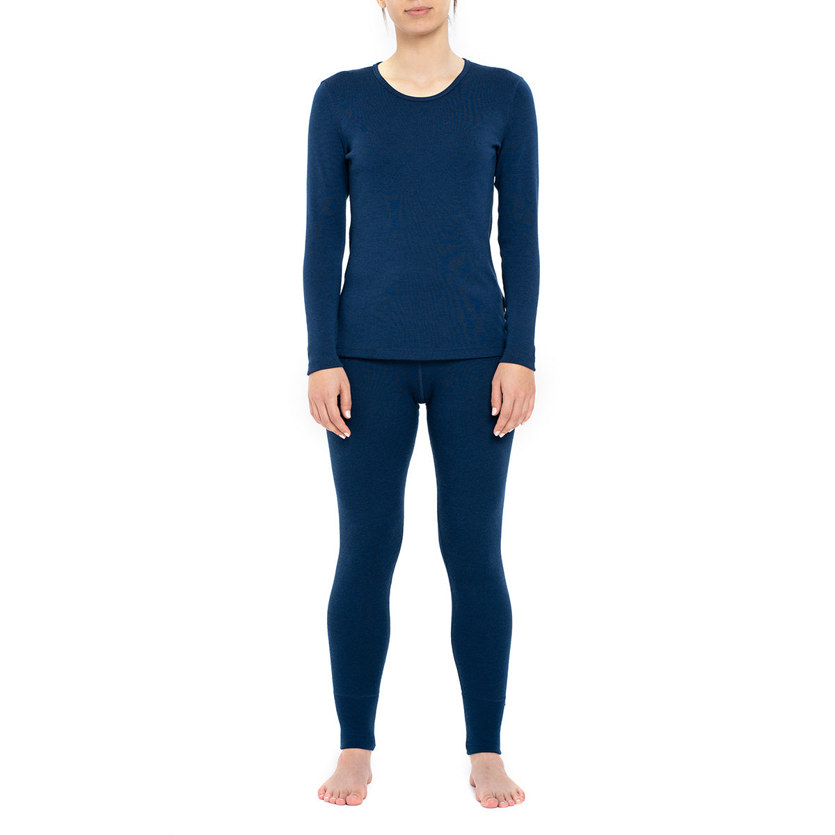 Women's Long Sleeve Set 250gsm Merino Wool Dark Blue