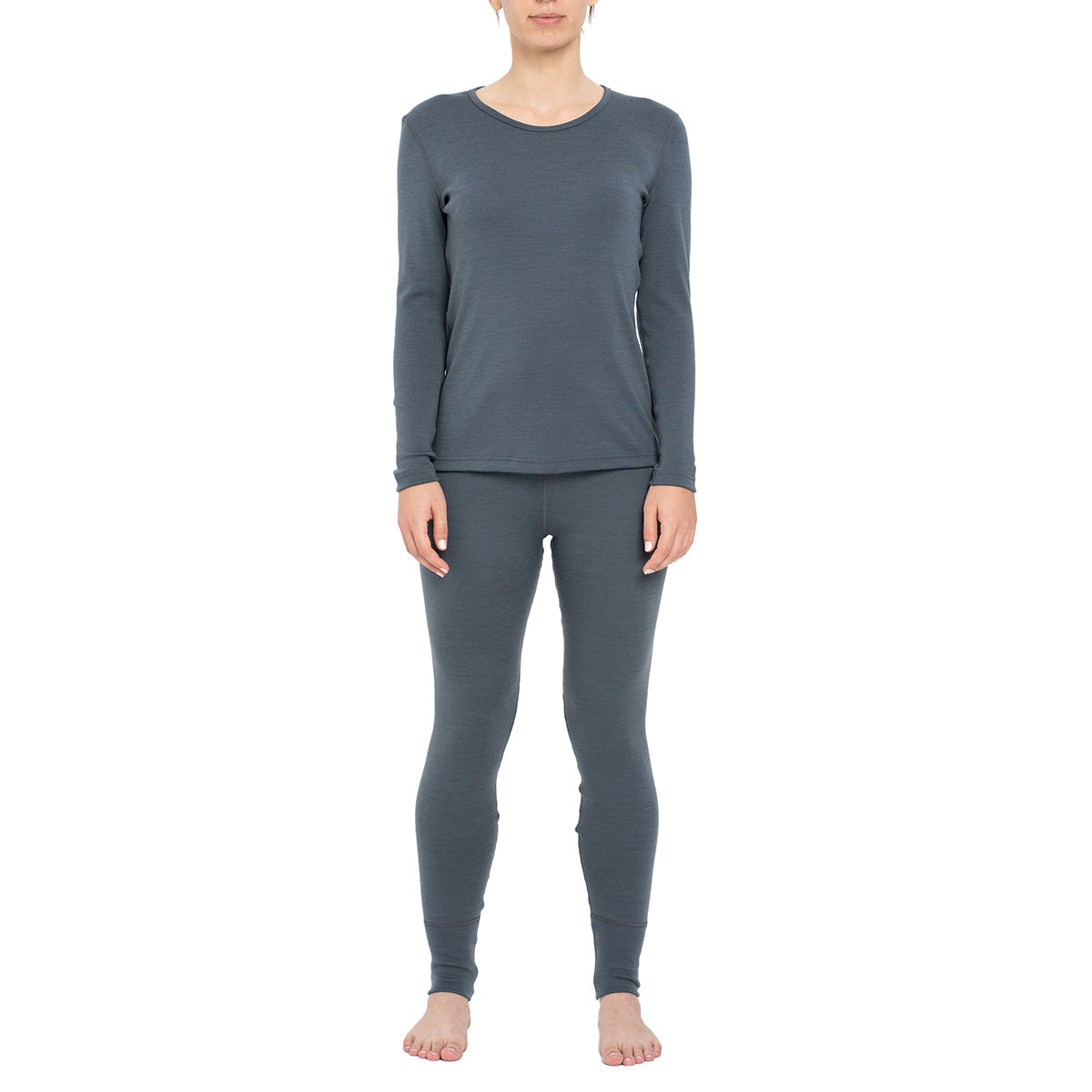 Women's Long Sleeve Set 250gsm Merino Wool Perfect Grey