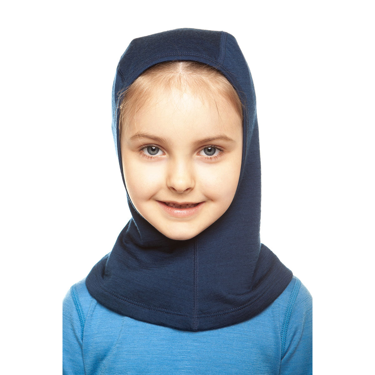 menique Kids' Merino 160 Balaclava Dark Blue Color