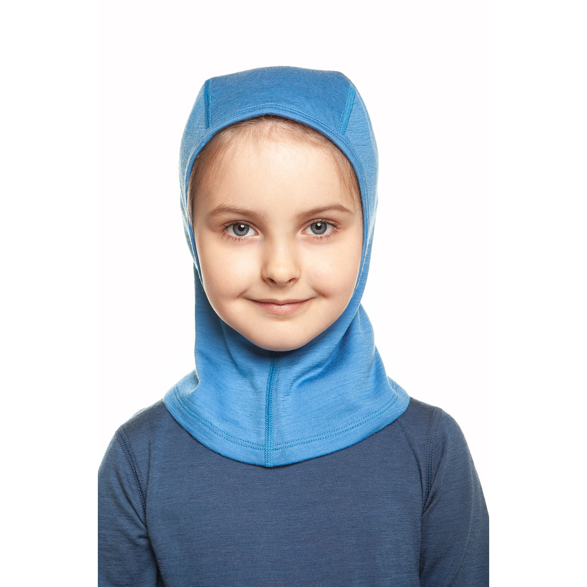 menique Kids' Merino 160 Balaclava Light Blue Color