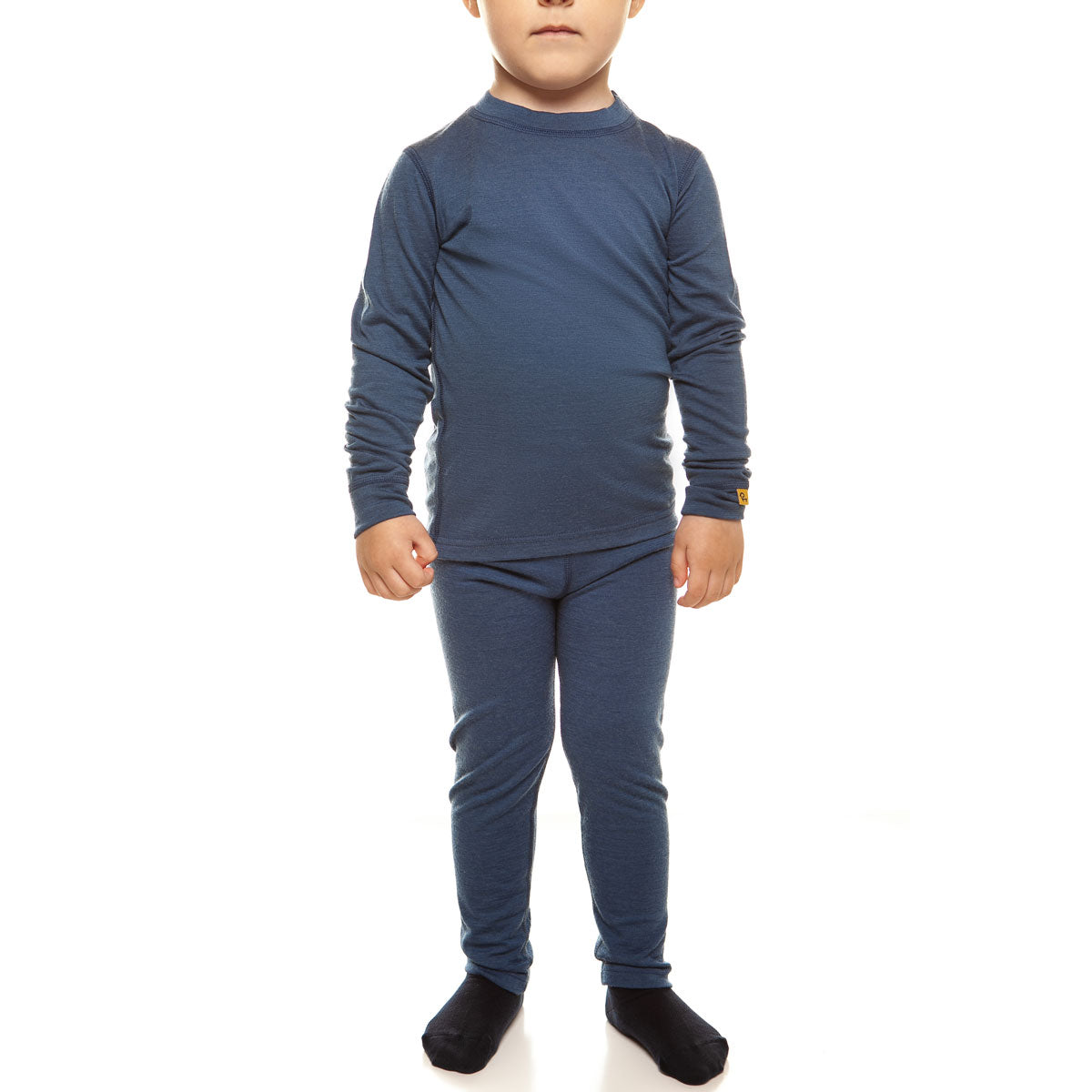 menique Kids' Merino 160 Long Sleeve Set Denim Color