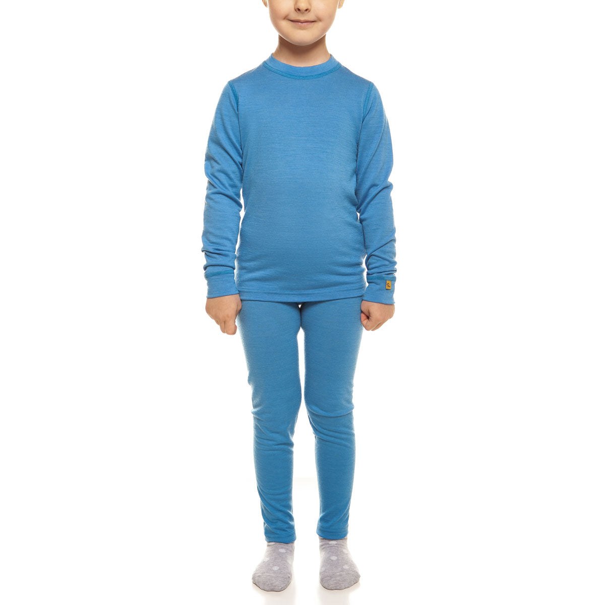 menique Kids' Merino 160 Long Sleeve Set Light Blue Color