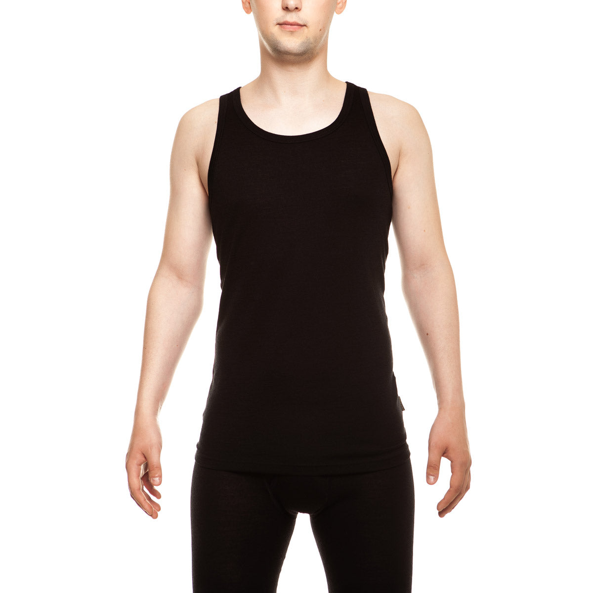 menique Men's Merino 160 Tank Top Black Color in nature