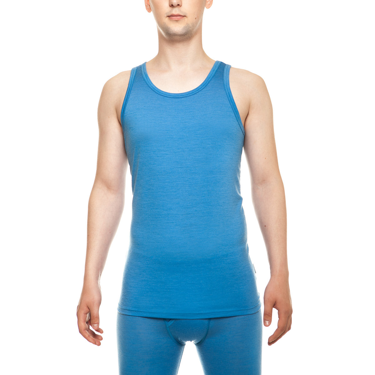 menique Men's Merino 160 Tank Top Light Blue Color