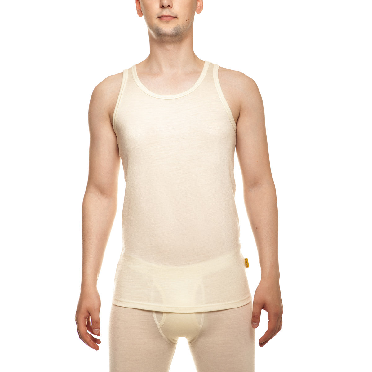 menique Men's Merino 160 Tank Top Natural Color in nature