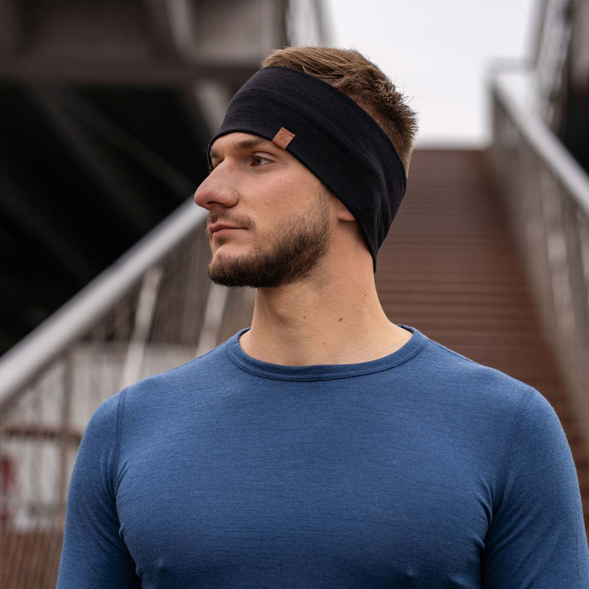 Men's Headband 160 Merino Black