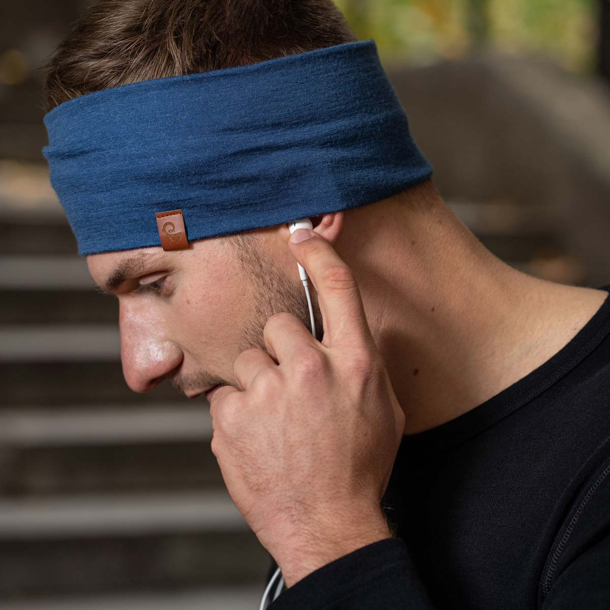 Men's Headband 160 Merino Denim