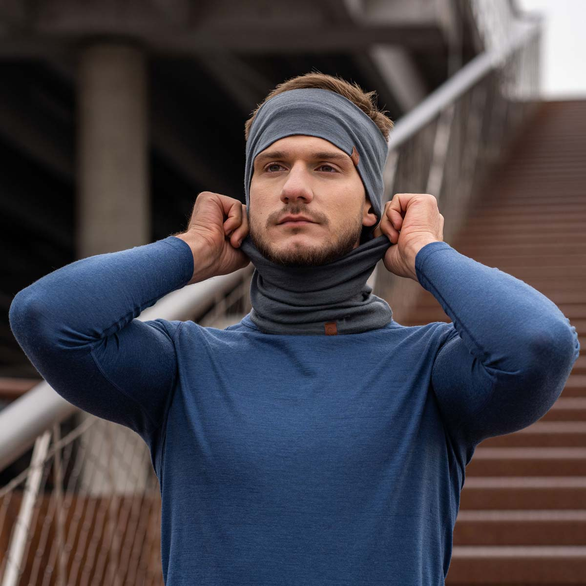 Men's Headband 160 Merino Perfect Grey