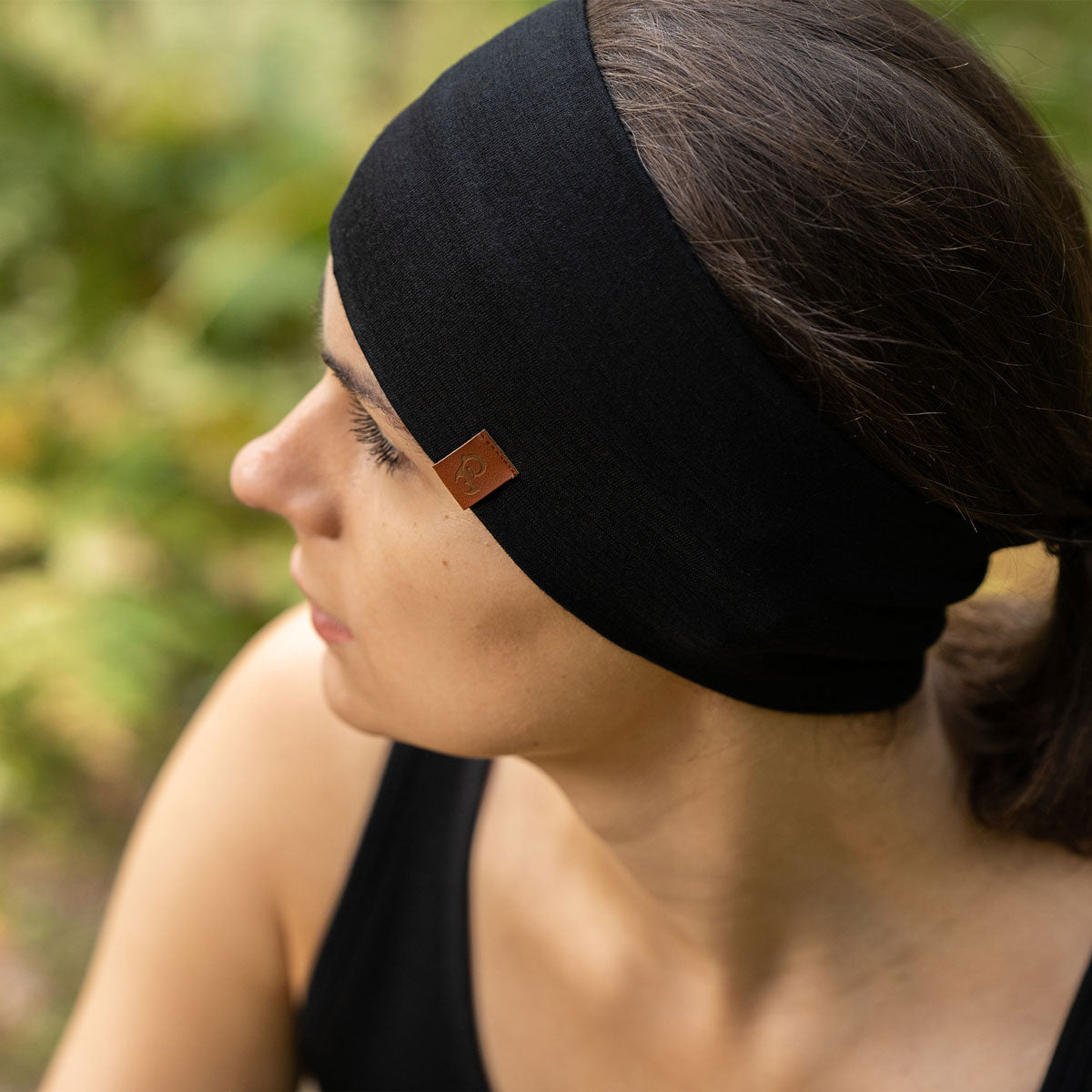 Women's Headband 160 Merino Black