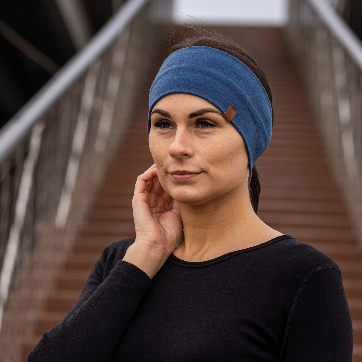 Women's Headband 160 Merino Denim