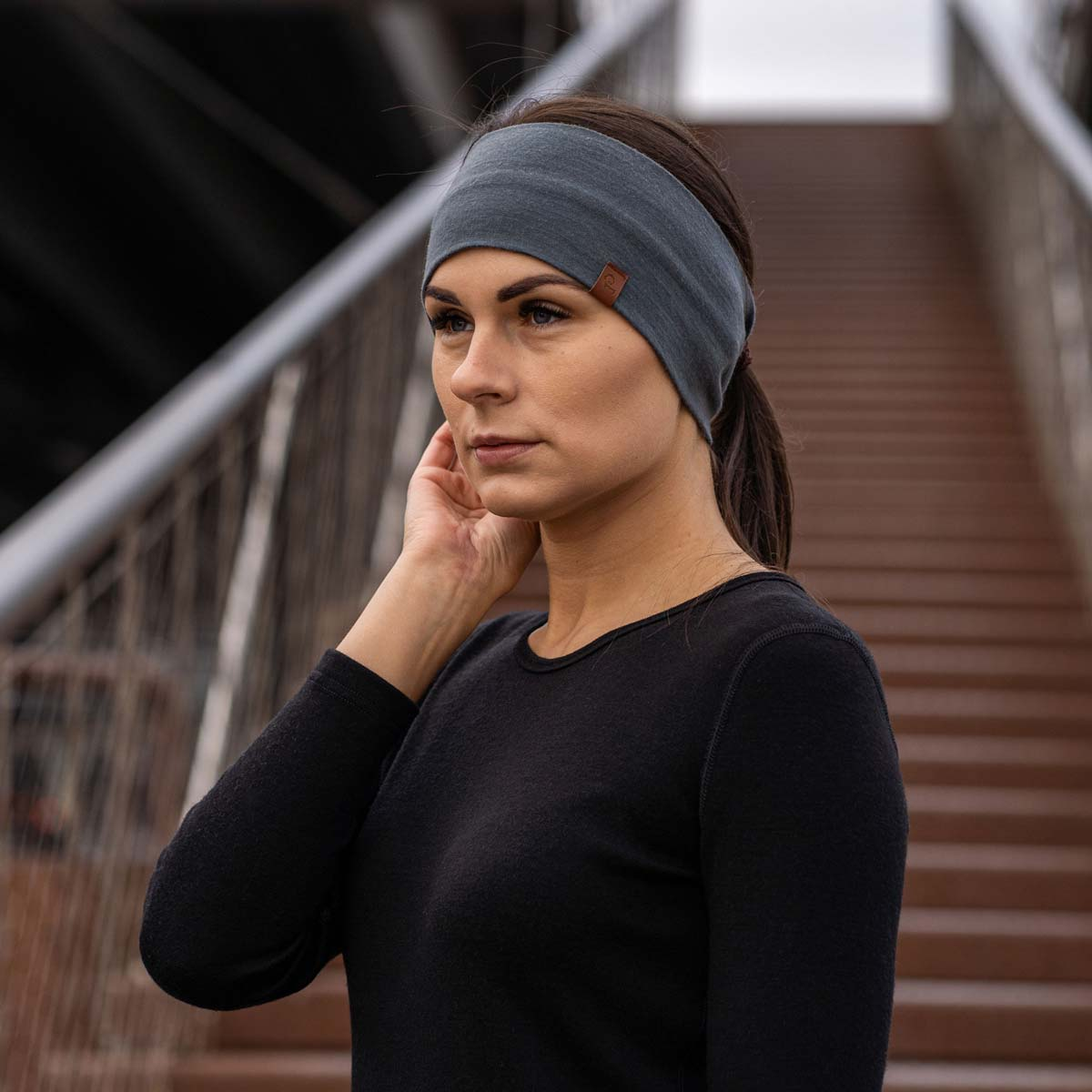 Women's Headband 160 Merino Perfect Grey
