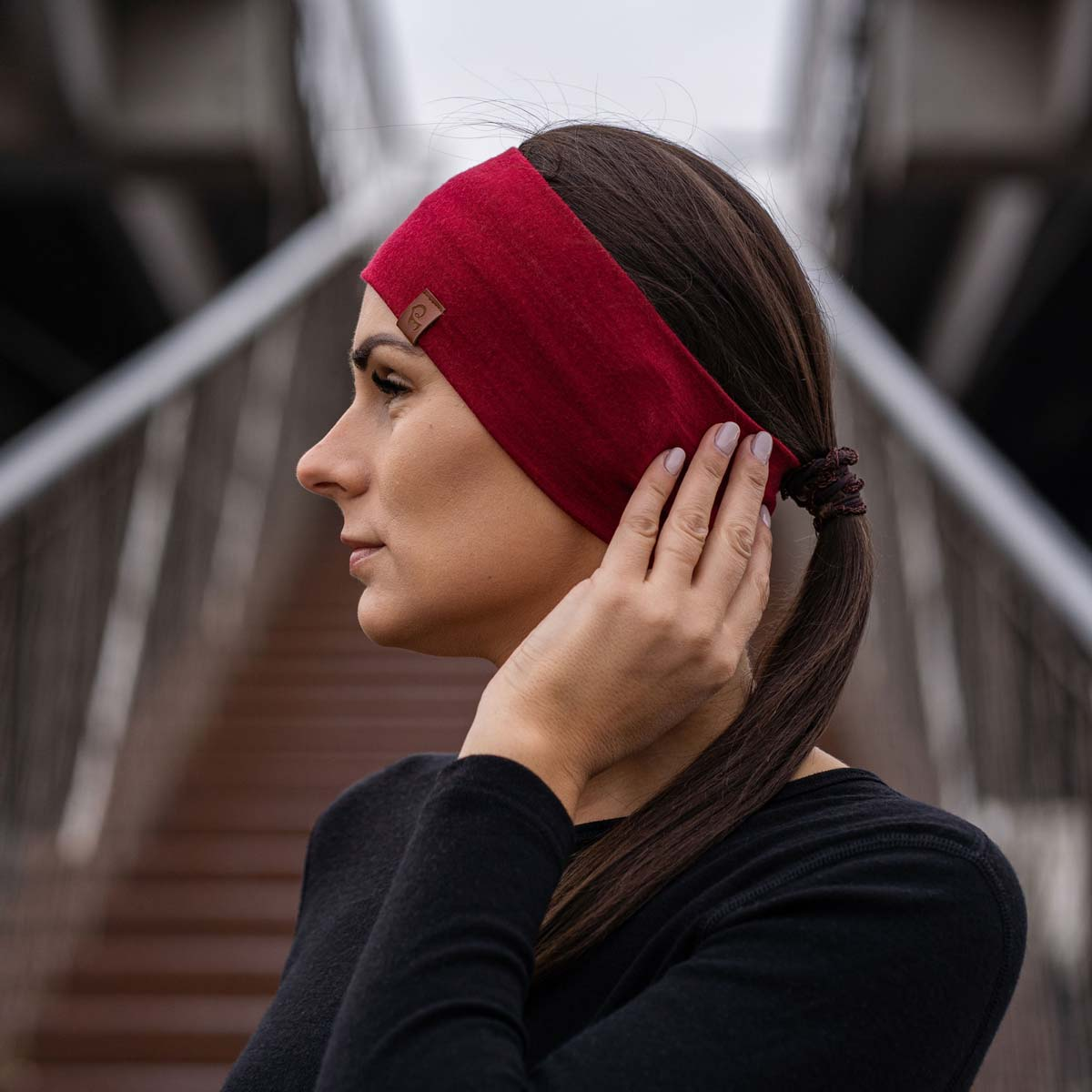 Women's Headband 160 Merino Royal Cherry