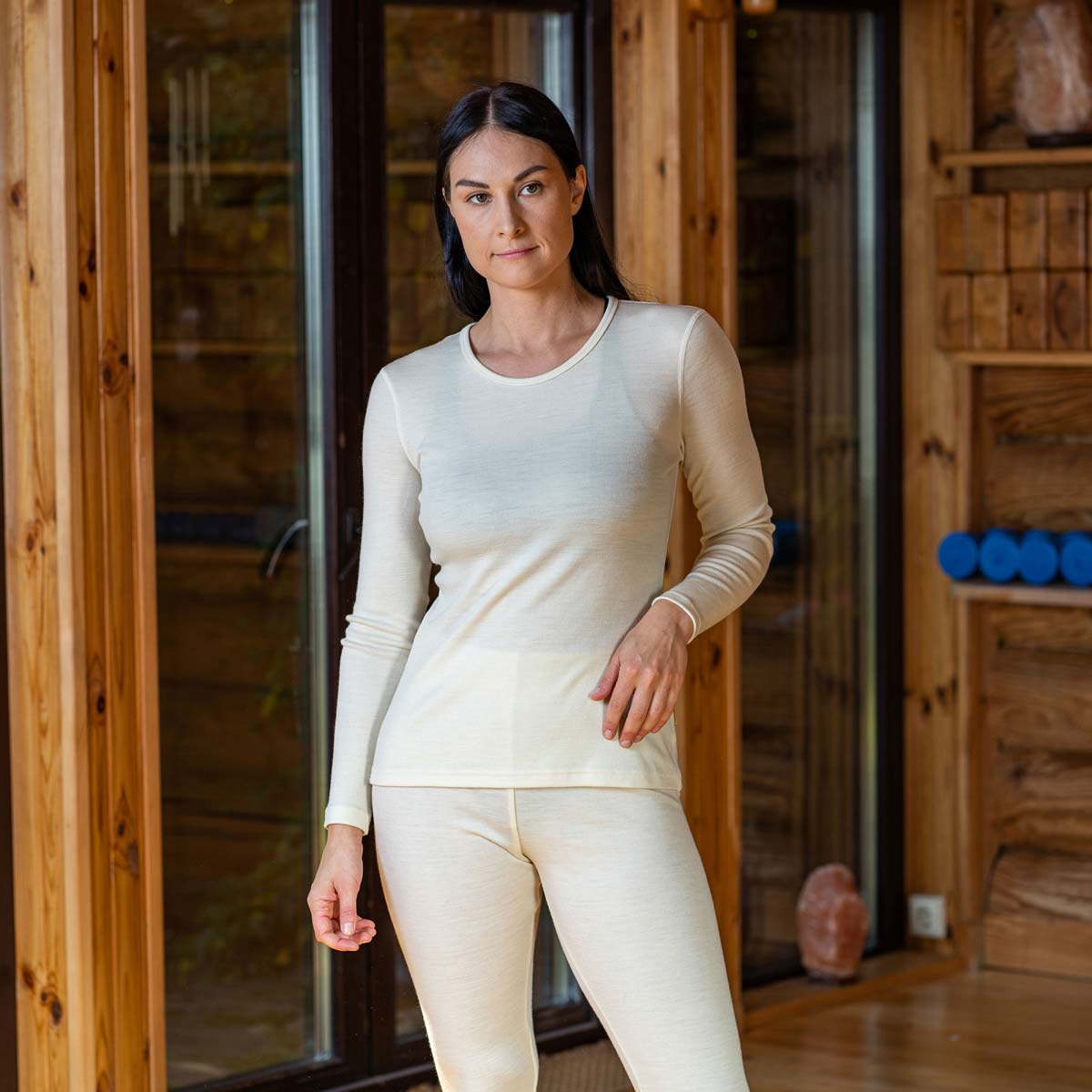 Women's Long sleeve Crew 250 Merino Natural