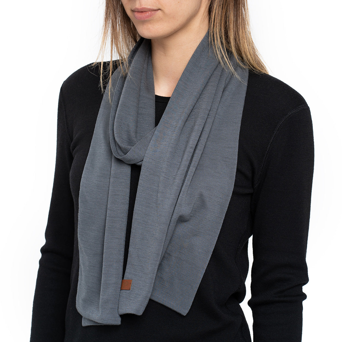menique Women's Merino Scarf Perfect Grey Color